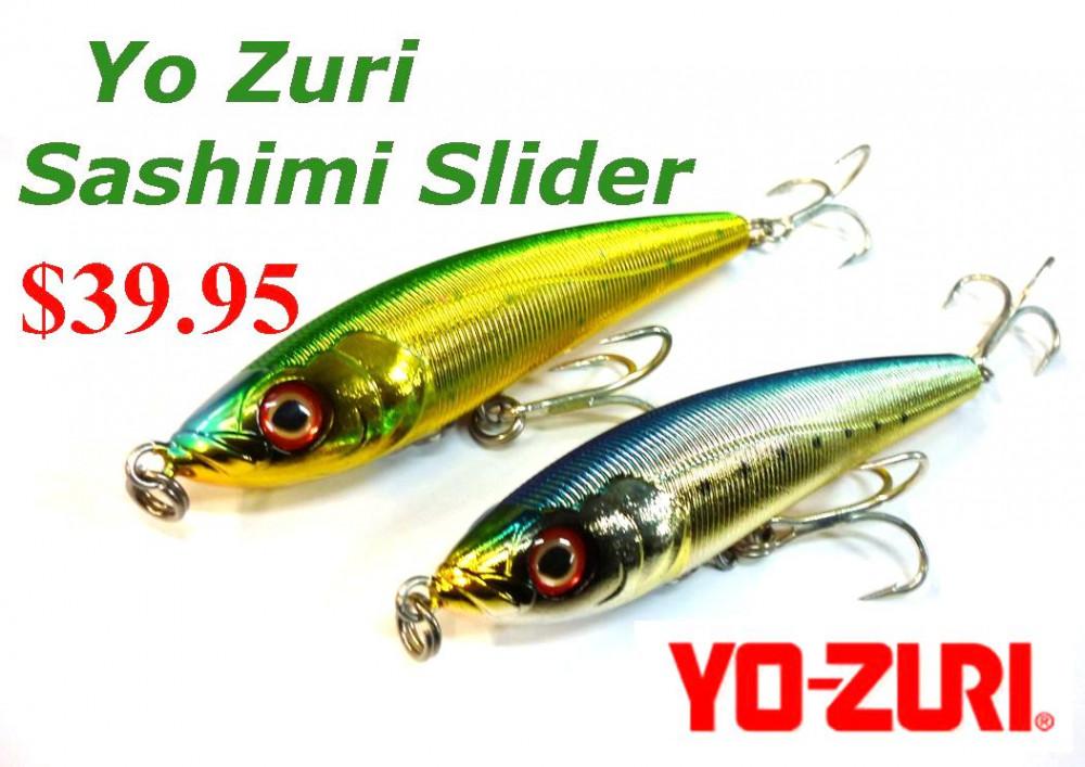 Yo zuri sashimi slider 140s stickbaits only ray for Fishing yo yo