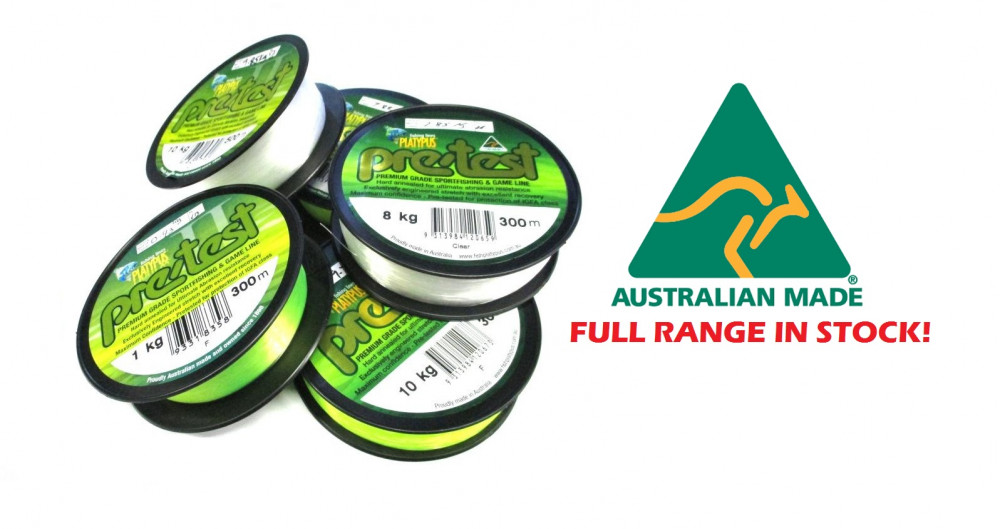 Platypus pre test igfa monofilament ray anne 39 s tackle for Fishing line test
