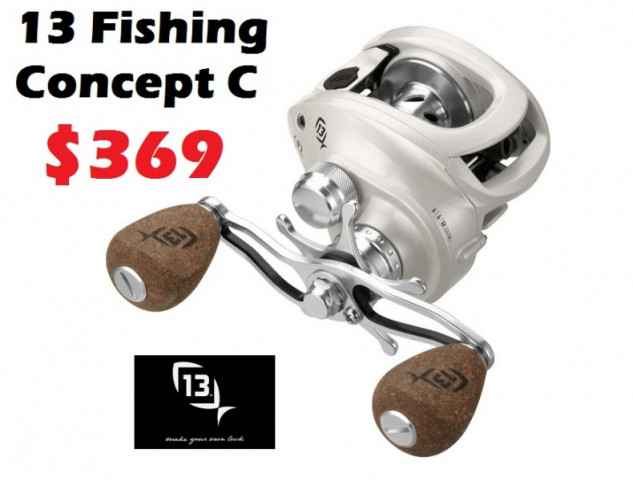13 fishing baicast reel concept c 369 free for Concept 13 fishing