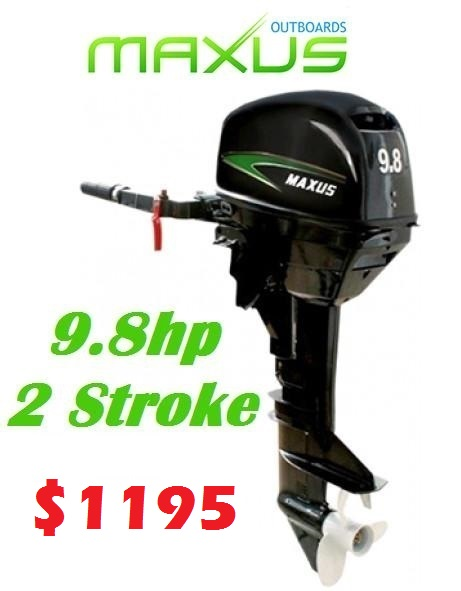 Maxus Outboard Motors 9 8 Hp 2 Stroke 1195 Ray Anne 39 S Tackle Marine Site