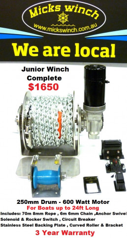 micks winch junior anchor winch for boats up to 24ft ray anne s rh rayannes com au ATV Winch Solenoid Wiring Diagram ATV Winch Solenoid Wiring Diagram