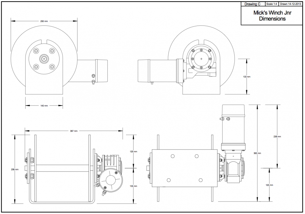 micks winch junior anchor winch for boats up to 24ft ray anne s rh rayannes com au ATV Winch Solenoid Wiring Diagram 120 Volt Winch Wiring Diagram